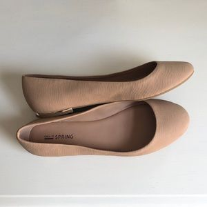 Call It Spring Nude Flats - Amazing Condition